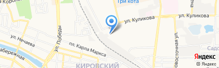 Домашний на карте Астрахани