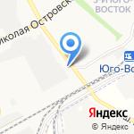 Глубокинский кирпич на карте Астрахани