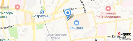 Кис Кис на карте Астрахани