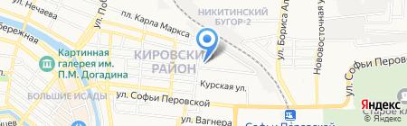 Средняя общеобразовательная школа №12 на карте Астрахани