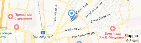 Телец на карте Астрахани