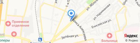 Яблочко на карте Астрахани