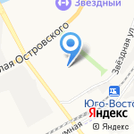 Средняя общеобразовательная школа №49 на карте Астрахани