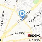 Союшка на карте Астрахани