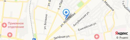 Магазин мяса на ул. Яблочкова на карте Астрахани
