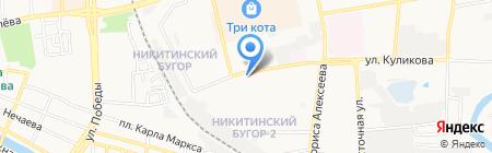 Шиномонтажная мастерская на ул. Куликова на карте Астрахани