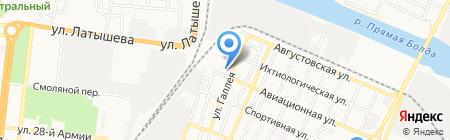 Ремез на карте Астрахани