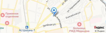 Средняя общеобразовательная школа №4 им. Т.Г. Шевченко на карте Астрахани
