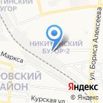 Стрела на карте Астрахани