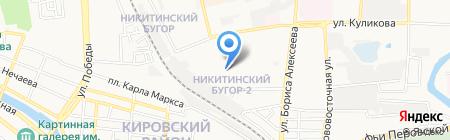 Детский сад на карте Астрахани