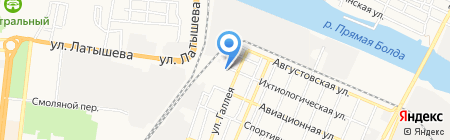Эль на карте Астрахани