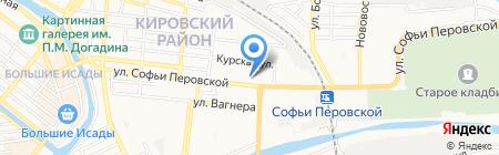 Киоск по продаже мясной продукции на карте Астрахани