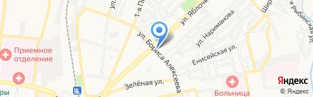 Киоск по продаже молочной продукции на карте Астрахани