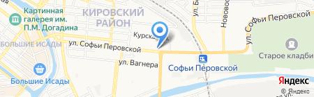 Инвитро на карте Астрахани