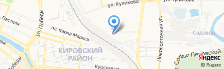 Алые паруса на карте Астрахани