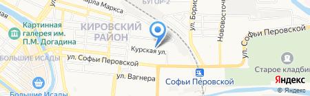 Улитка на карте Астрахани