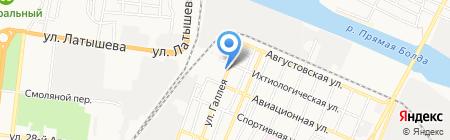 Простоквашино на карте Астрахани