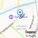 Седьмое чувство на карте Астрахани