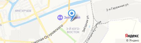 Церковная лавка на ул. Николая Островского на карте Астрахани