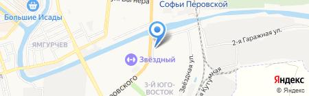 Курьер счастья на карте Астрахани