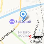 Маша и Медведи на карте Астрахани