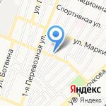 Август на карте Астрахани
