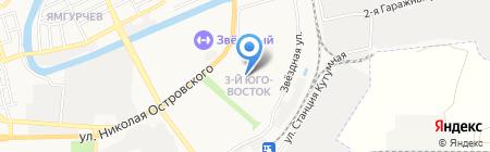 Библиотека №5 на карте Астрахани