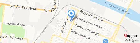 Катюша на карте Астрахани