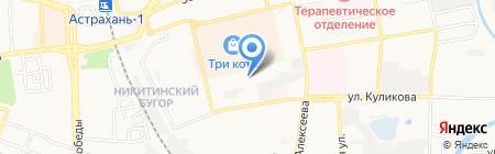 Пандора на карте Астрахани