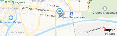 Пункт обслуживания клиентов №4 на карте Астрахани