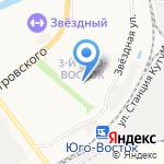 Ананас на карте Астрахани
