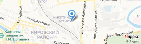 Айдар на карте Астрахани