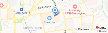 Строй-Астра на карте Астрахани