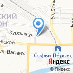 Михайловский на карте Астрахани
