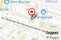 Схема проезда до компании Империя услуг в Астрахани