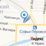 Subway на карте Астрахани