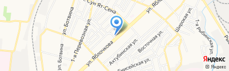 Золотая нить на карте Астрахани