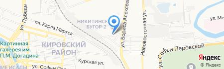 Клим на карте Астрахани
