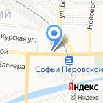 Сытый лось на карте Астрахани
