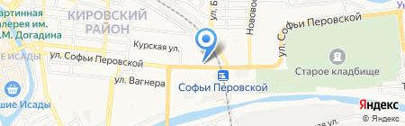 Юлия на карте Астрахани