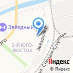 Байконур на карте Астрахани