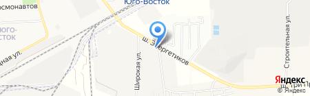 Продуктовый магазин на Энергетиков шоссе на карте Астраханской области