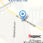 Батайль на карте Астрахани