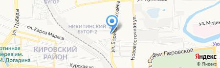 Московский Индустриальный банк на карте Астрахани
