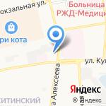 Квадрат на карте Астрахани