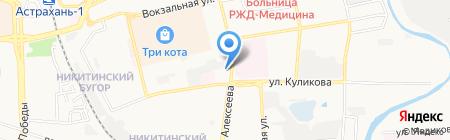 Ликарион на карте Астрахани
