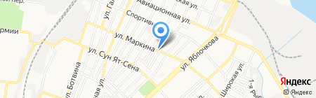 Южный на карте Астрахани