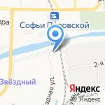 Азбука на радуге на карте Астрахани