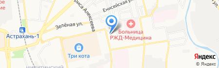 Лазер Клуб на карте Астрахани