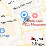 Уралочка на карте Астрахани